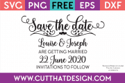 Free SVG Save the Date
