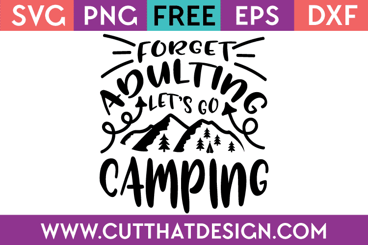 Free Camping SVG Files Download
