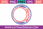 Free SVG Files Monogram Circle Frame USA