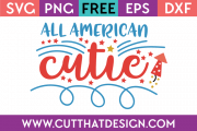 Free Cut File All American Cutie