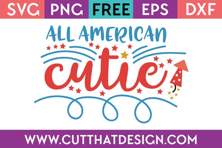Free Cut File All American Cutie