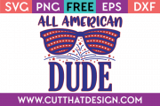 Free SVG Cut File All American Dude