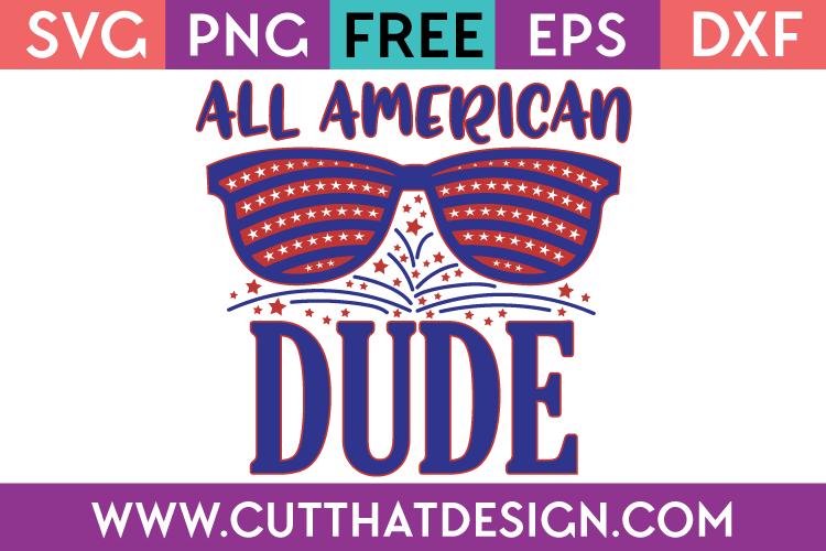 Free SVG Cut File All American Dude