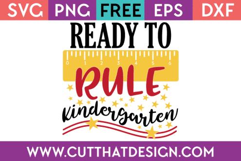 Free SVG Kindergarten