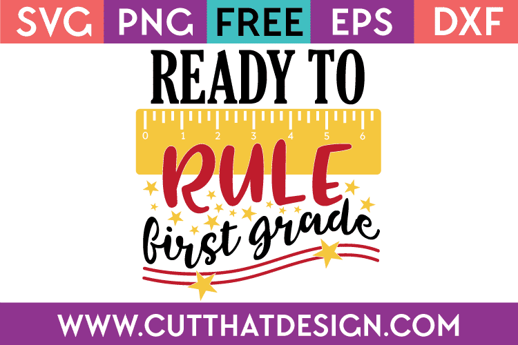Free SVG First Grade