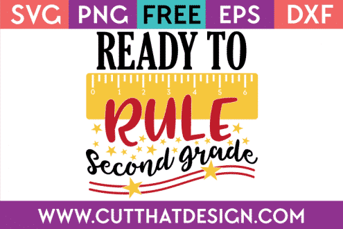 Free SVG Second Grade