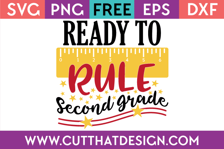 Free SVG Second Grade