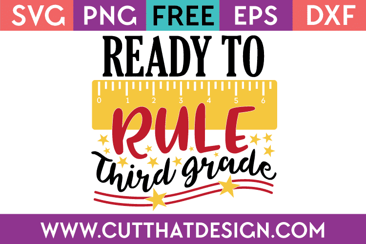 Free SVG Third Grade