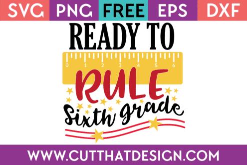 Free SVG Sixth Grade