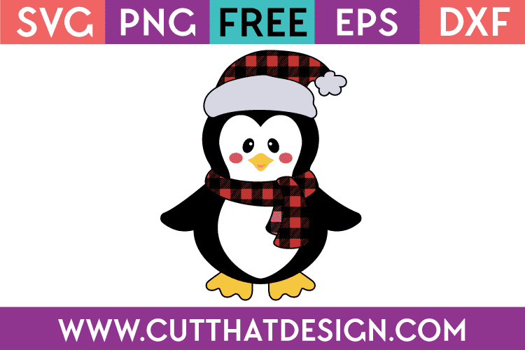 free christmas penguin svg