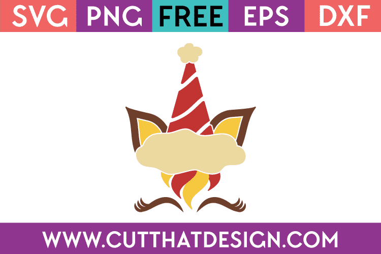 Free Unicorn Face svg