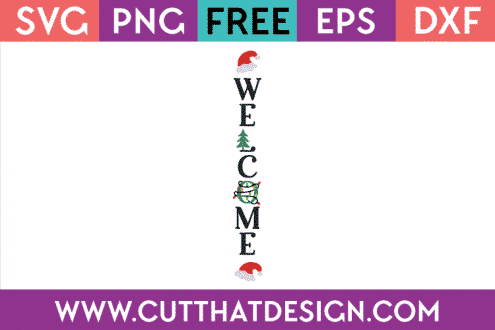 Free Christmas SVG Porch Sign