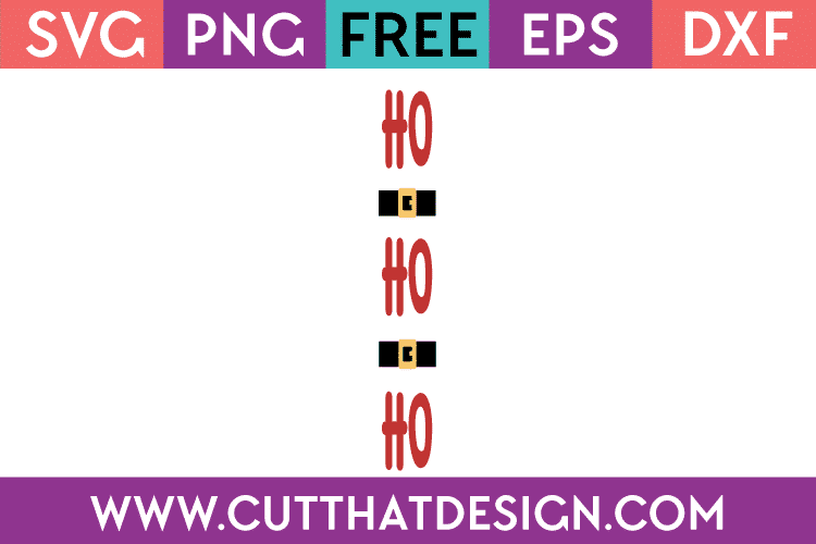 Free SVG Christmas Ho Ho Ho Porch Sign