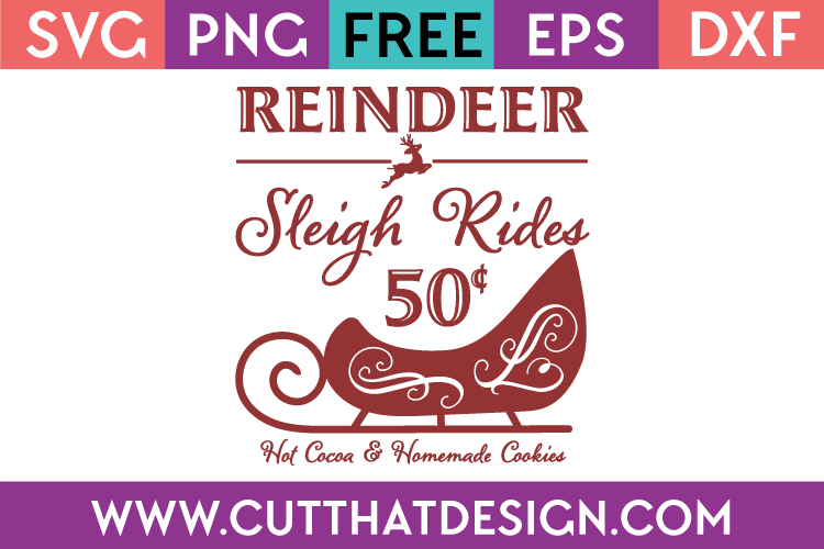 Free SVG Files Reindeer Sleigh