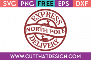 Free SVG North Pole Sign