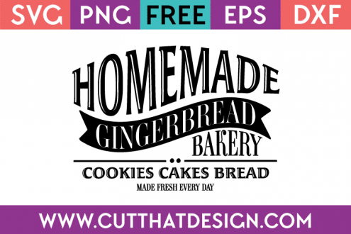 Free SVG Files Christmas Gingerbread House