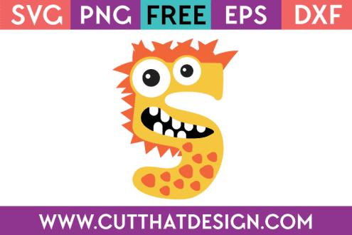 Free Monster Number SVG
