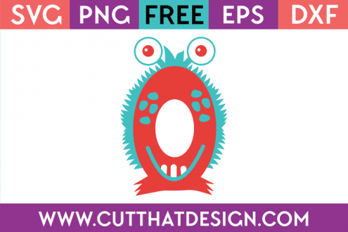 Free SVG Cutting Files Monster Numbers