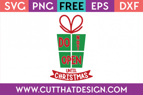 Free SVG File Christmas Present