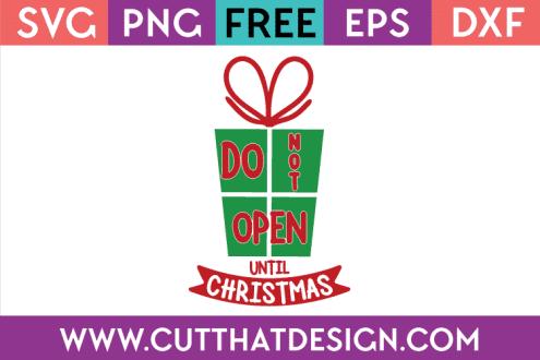 Free SVG File Christmas Present
