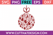Free SVG Christmas Bauble