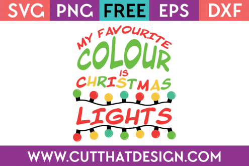Free SVG Christmas Lights