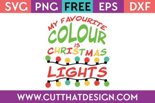Free SVG Christmas Lights