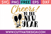 Free SVG Cheers to the New Year