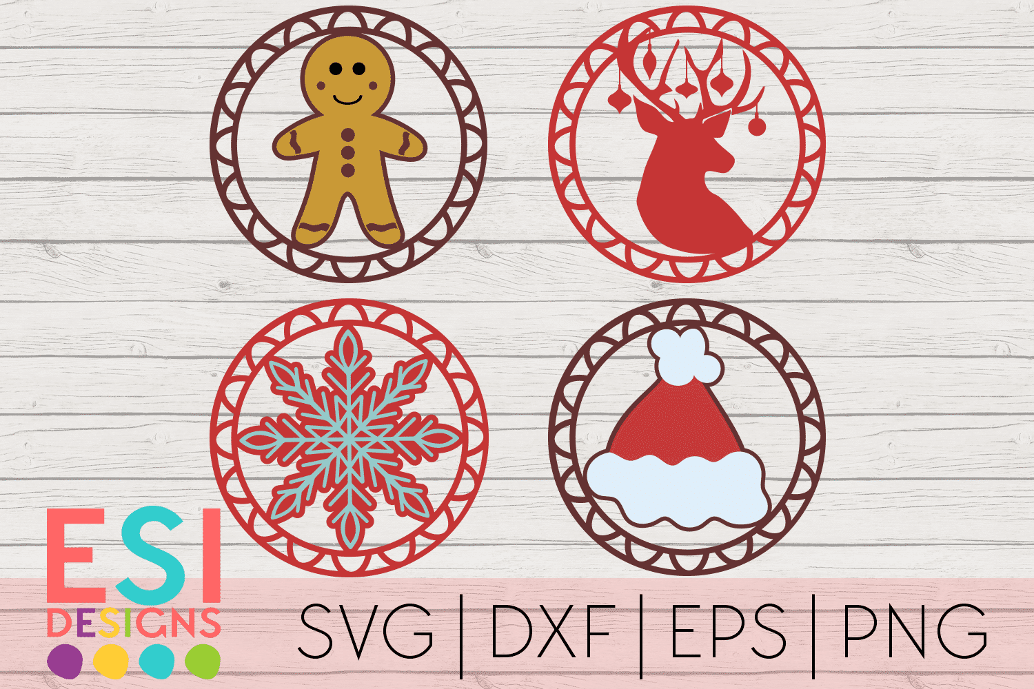 SVG Shop - Christmas Gift Tag Designs Set