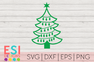 Christmas Tree Outline SVG