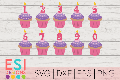 Cupcake Candle SVG Files