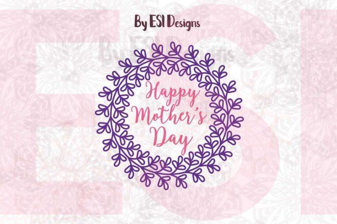 SVG Mother's Day Wreath Design