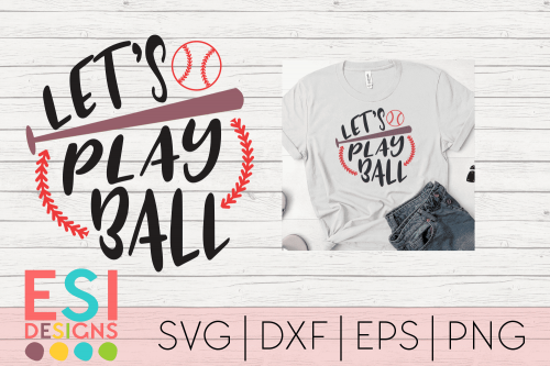 SVG File Let's Play Ball