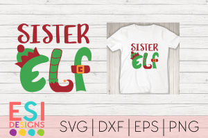 Sister Elf SVG File