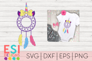 Unicorn SVG with Dreamcatcher