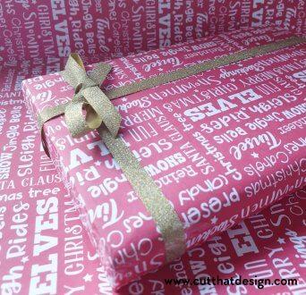 Designing gift wrap in silhouette studio
