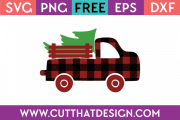 Free SVG Christmas Truck