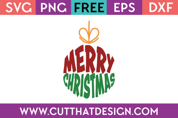 SVG Files Free Christmas Bauble Design