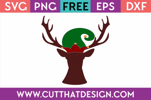 Free Christmas Deer Head SVG