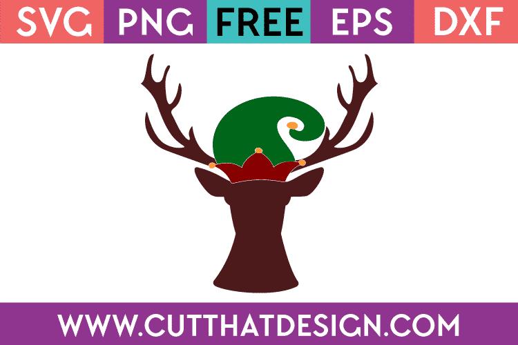 Free Christmas Deer Head SVG