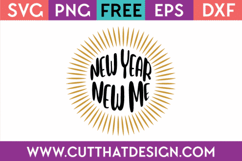 New Year New Me Free SVG