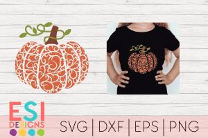 Flourish Pumpkin SVG