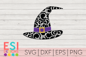 Witch Hat SVG Flourish