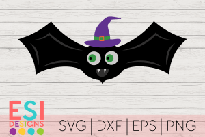 SVG Halloween Bat Witch Hat
