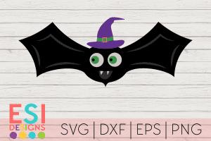 SVG Halloween Bat Witch Hat