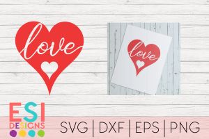 Love heart SVG File