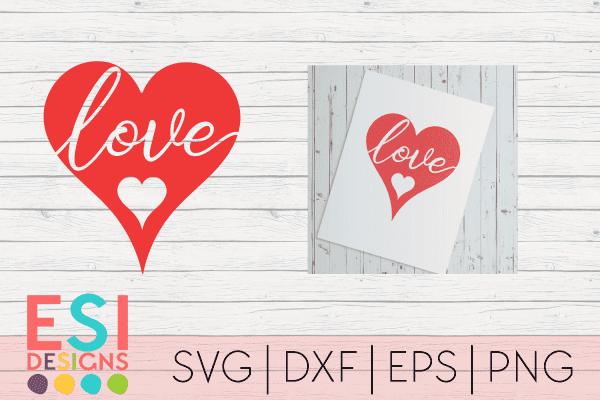 Love heart SVG File