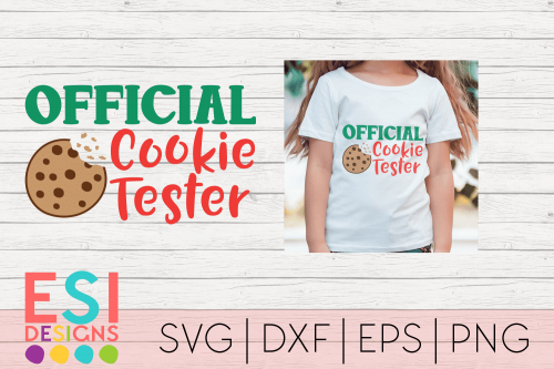 SVG File Christmas Official Cookie Tester