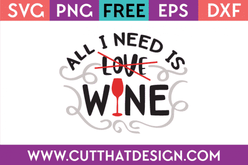 Free SVG File Wine