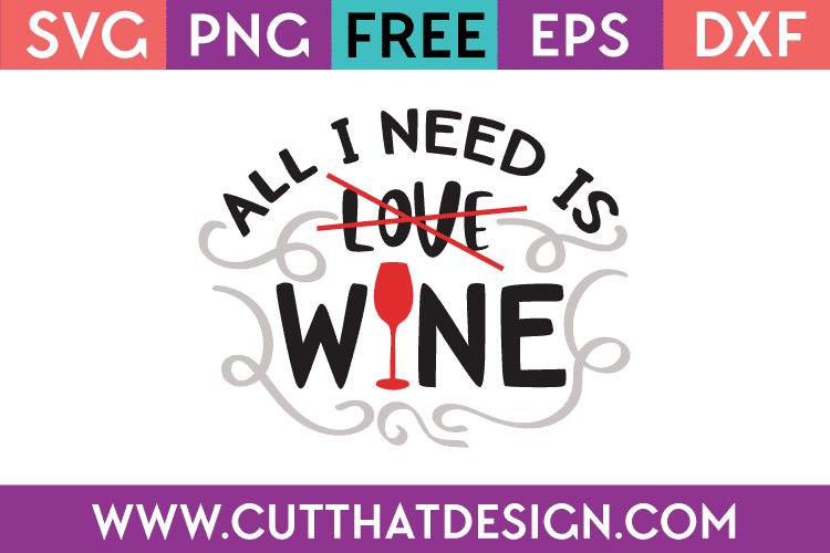 Free SVG File Wine